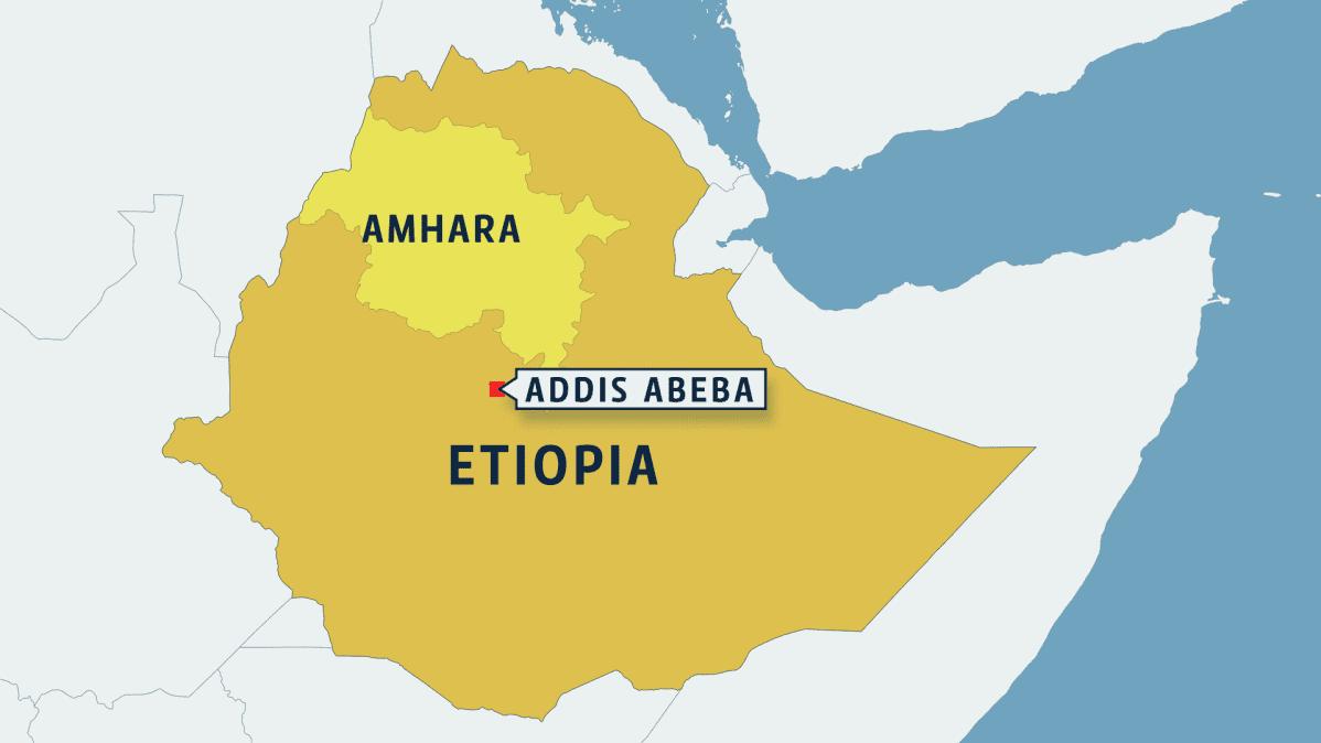 Etiopian kartta