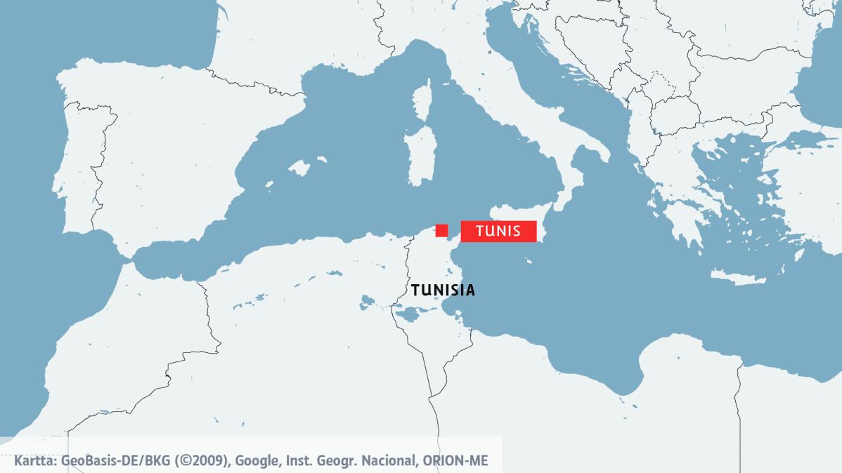 Kartta Tunisiasta
