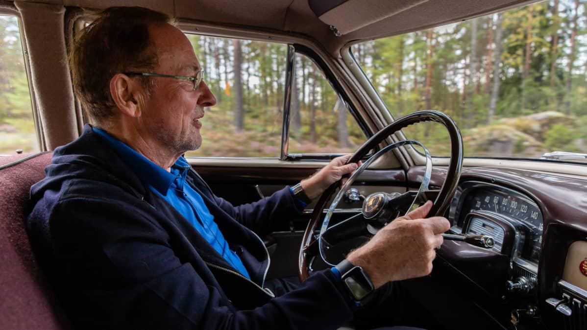 Presidentti Paasikiven 1952 Cadillac ja puikoissa omistaja Clas Palmberg