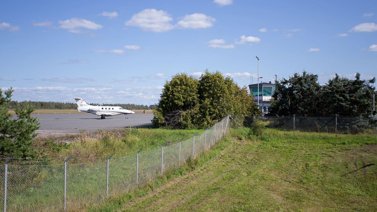 Kuvaa Lappeenrannan lentokentältä 18. elokuuta.