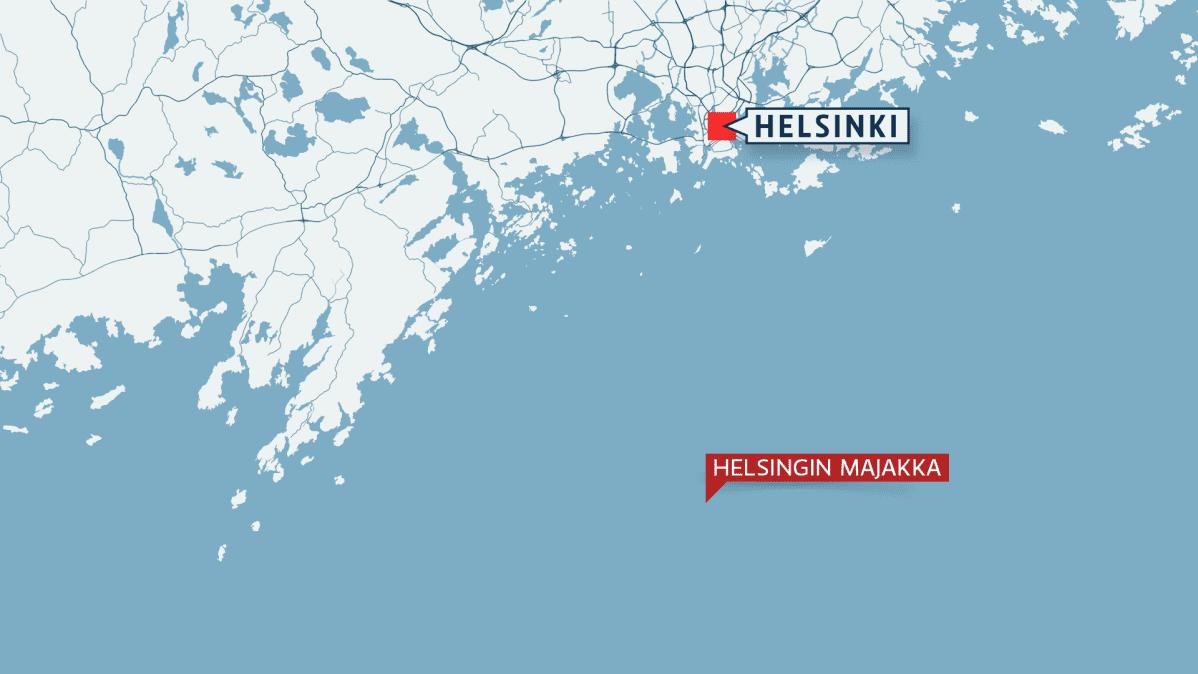 Helsingin majakka kartalla