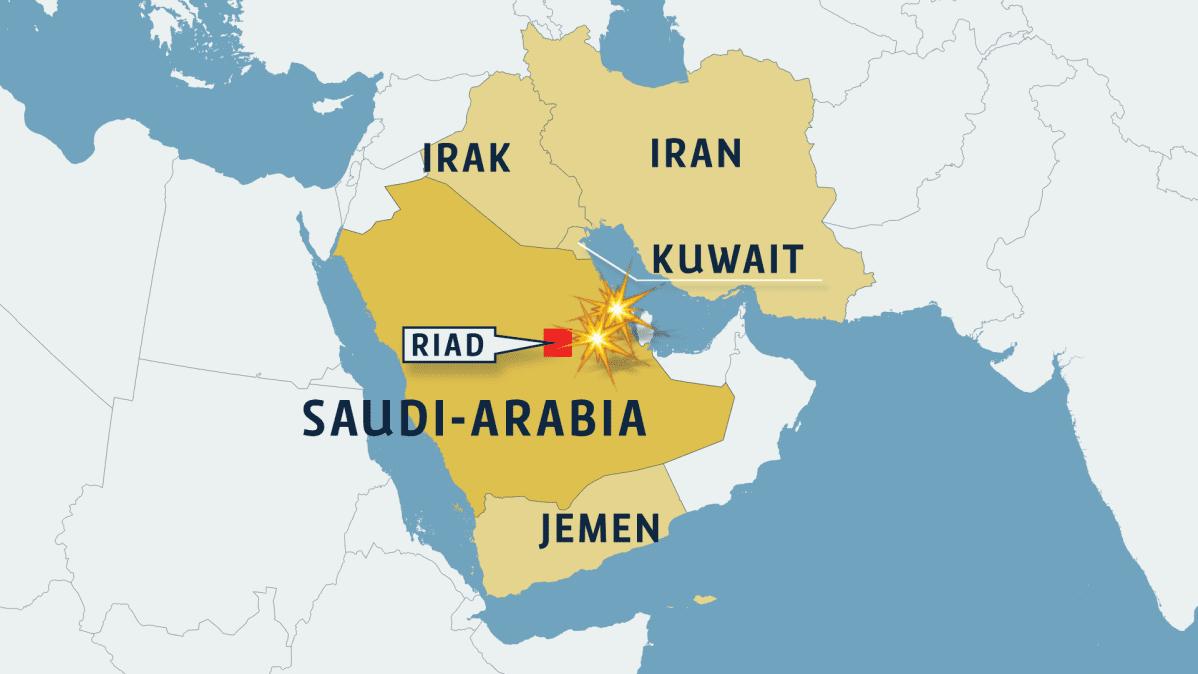Kartta Persianlahden alueesta