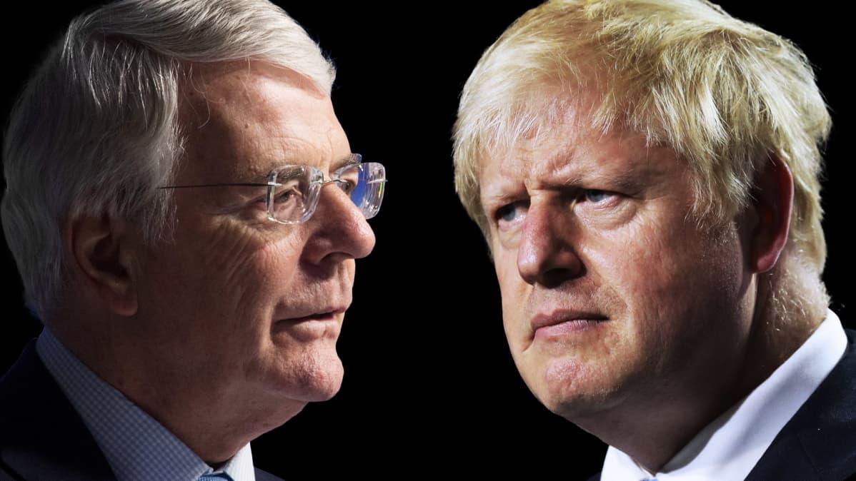 Boris Johnson ja John Major