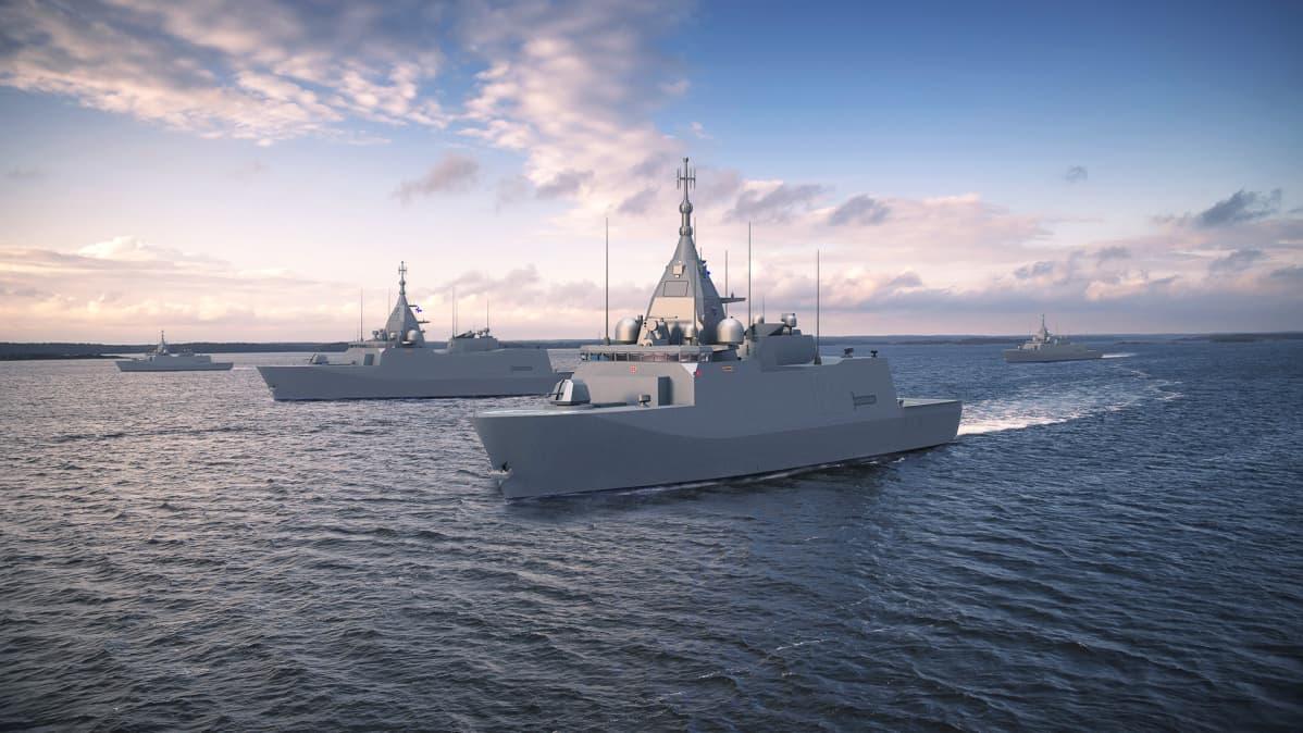 Pohjanmaa-luokan aluksen havainnekuva