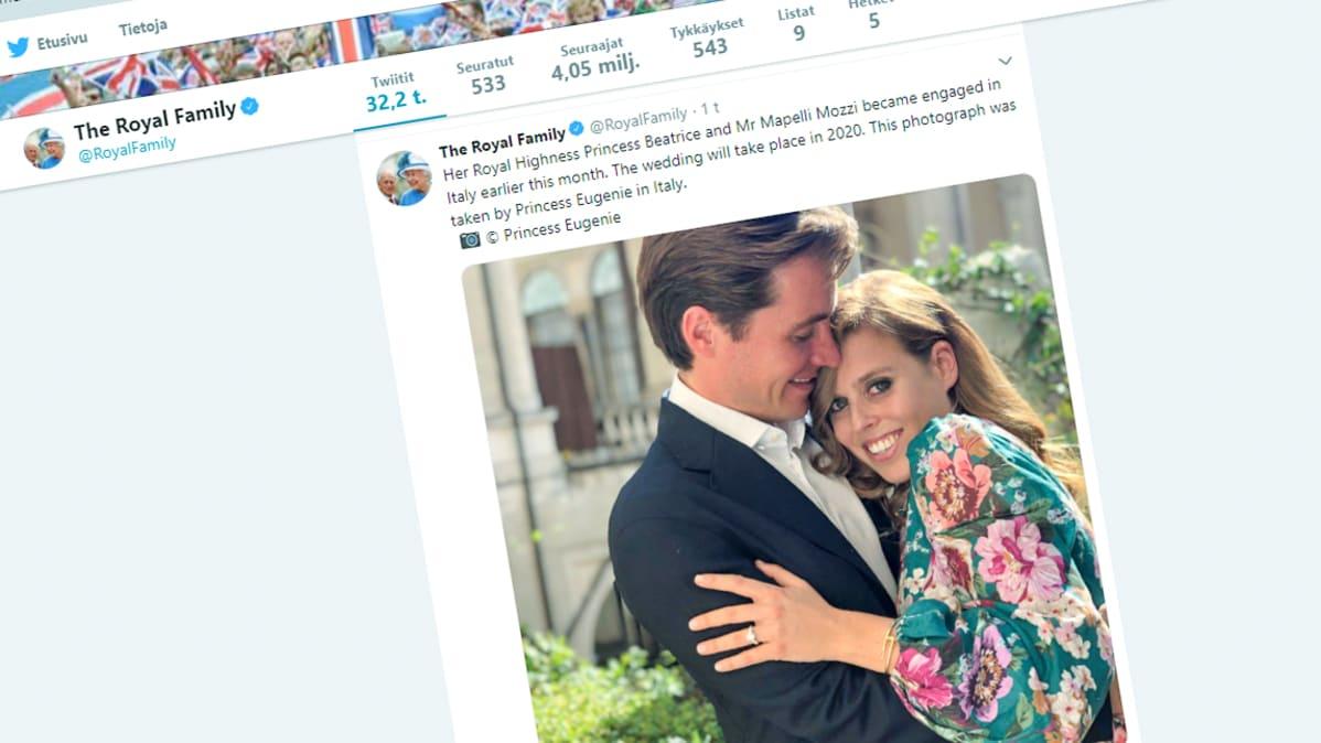 Kuvakaappaus The Royal Family Twitter -sivustolta