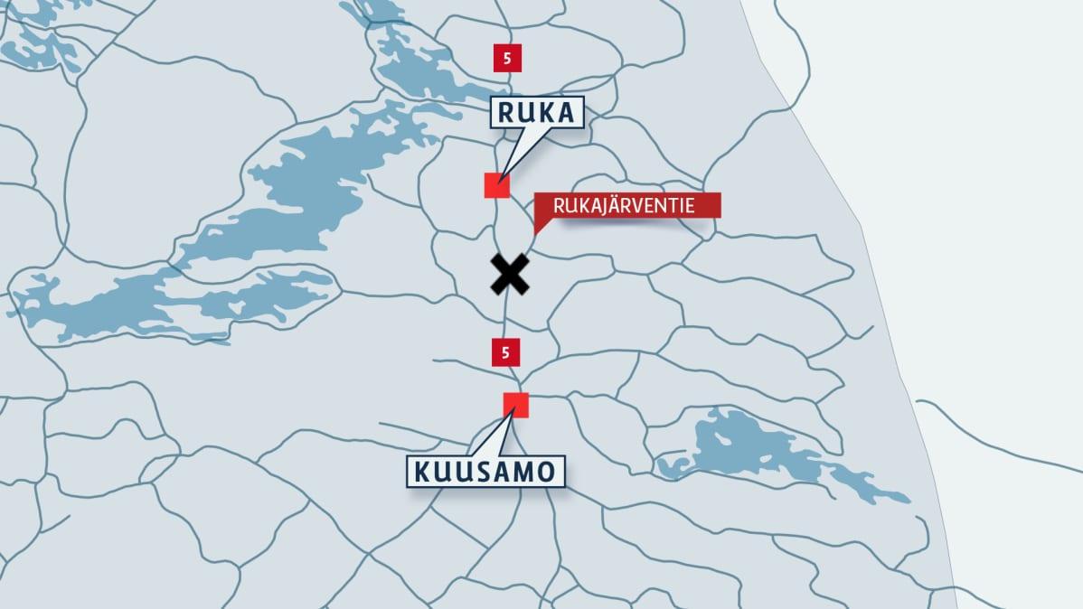 Kaksi Kuoli Henkiloauton Ajauduttua Pain Rekkaa Kuusamossa Yle