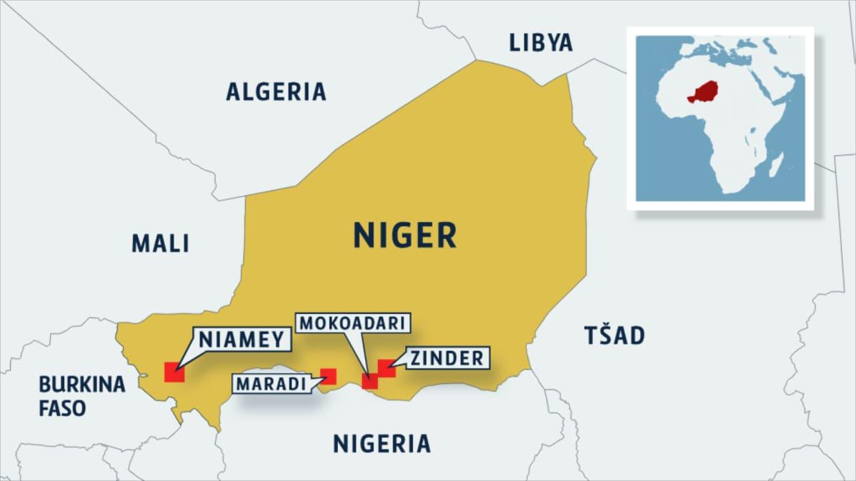 Nigerin kartta