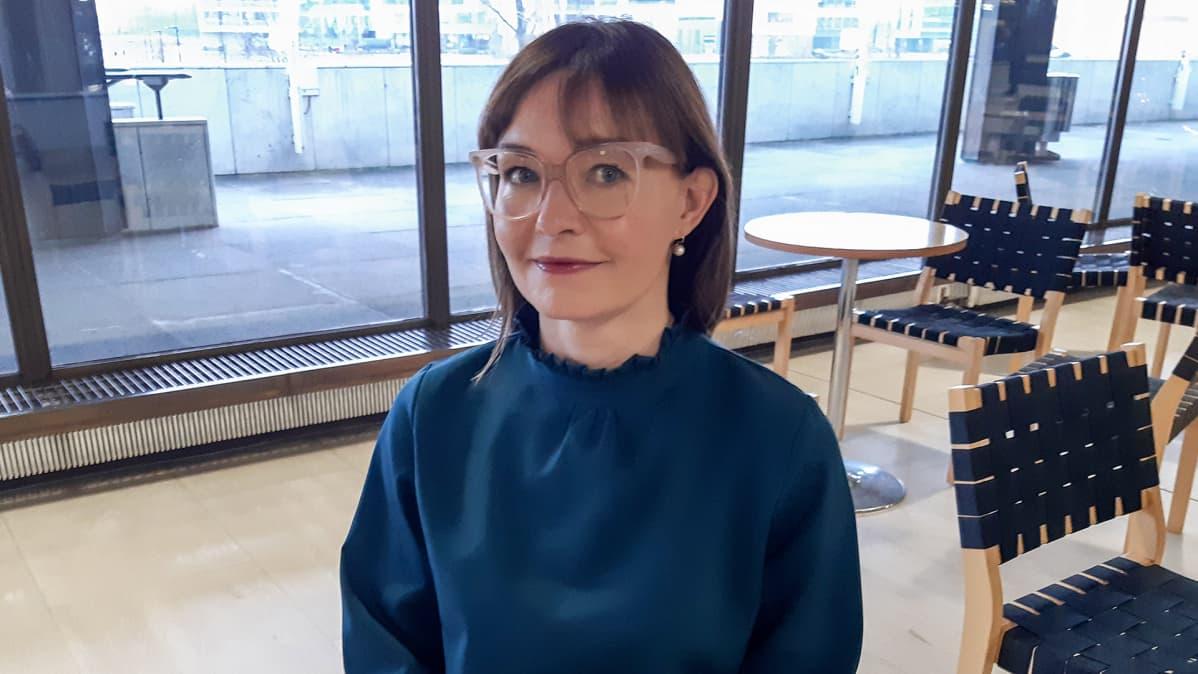 Metsäteollisuus ry:n kauppapolitiikan päällikkö Eeva Korolainen.