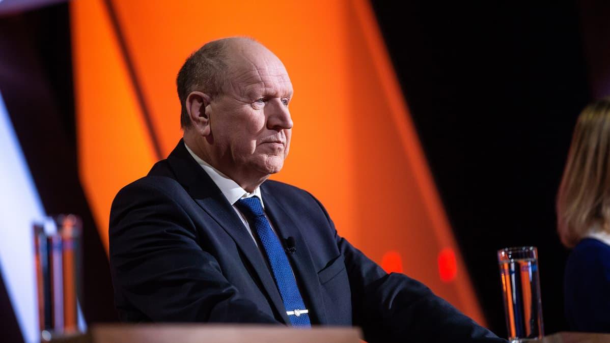 Oikeistopopulistisen Ekre-puolueen puheenjohtaja Mart Helme.