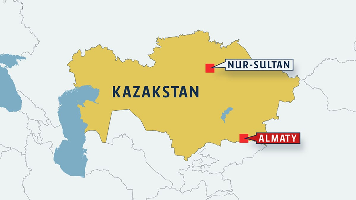 Kazakstanin kartta