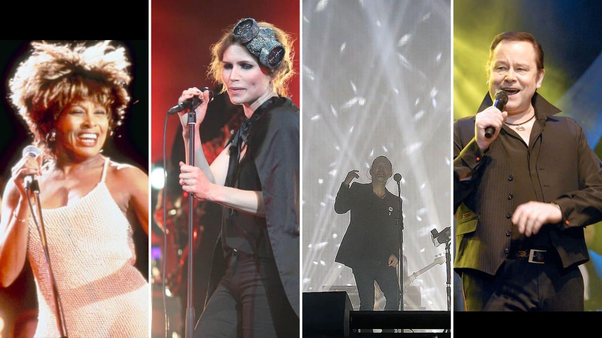 Tina Turner, The Cardigans (Nina Persson), Radiohead ja Tapani Kansa