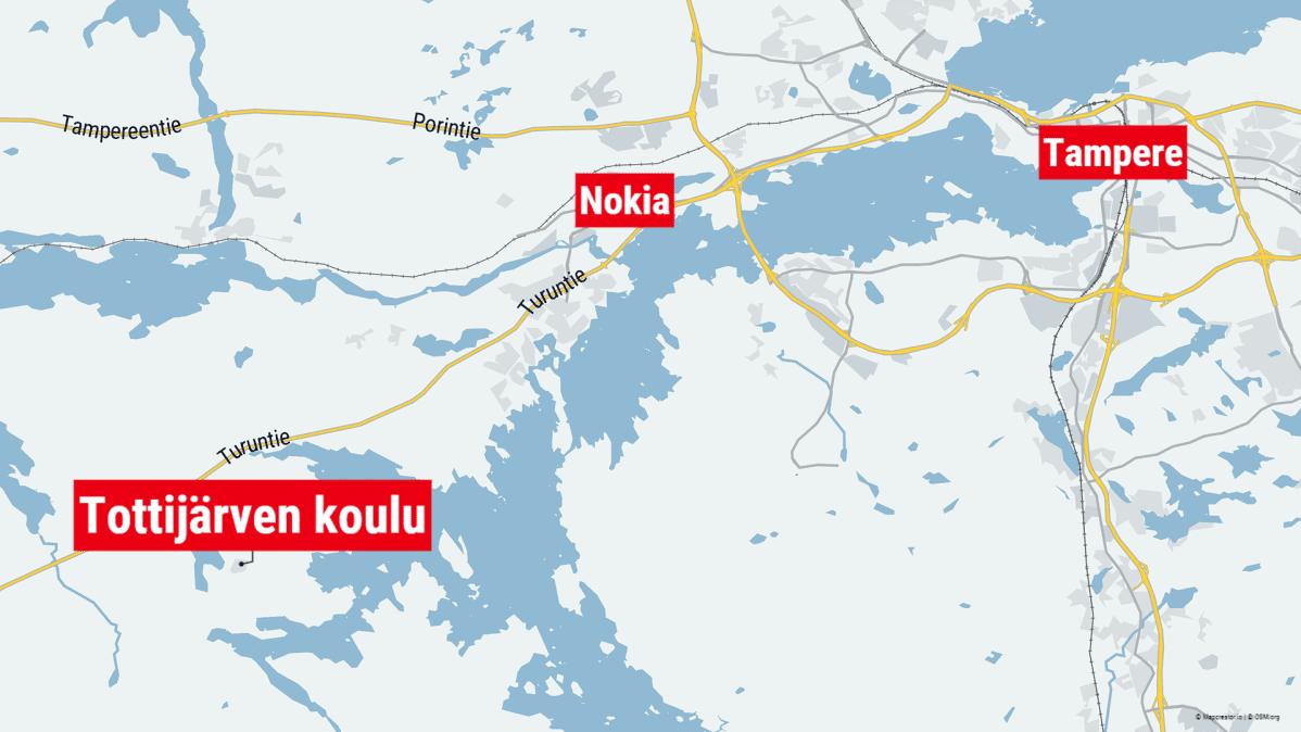 Tottijärven koulu sijaitsee Nokialla.