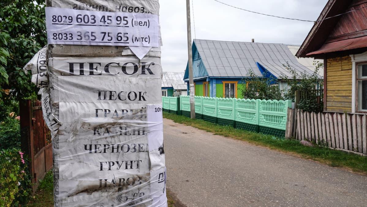 Kuvassa on näkymä Valko-Venäjän maaseudulta.
