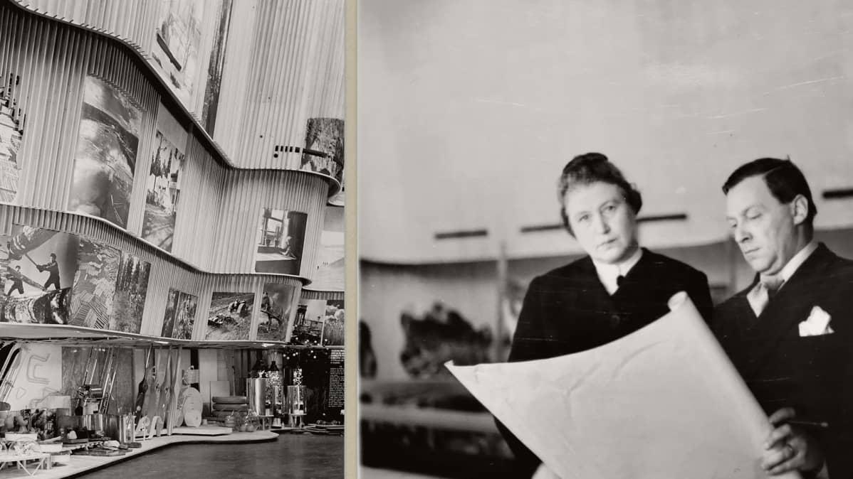 Aino ja Alvar Aalto New Yorkin maailmannäyttelyssä 1939