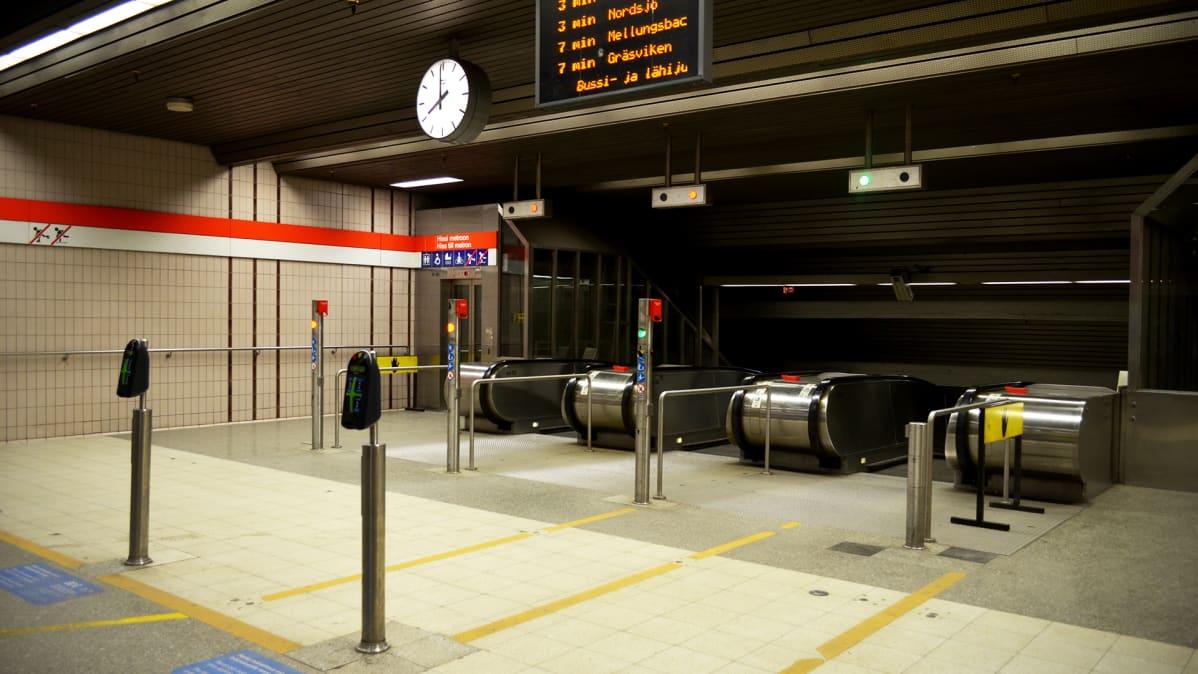 Sörnäisten metroasema.