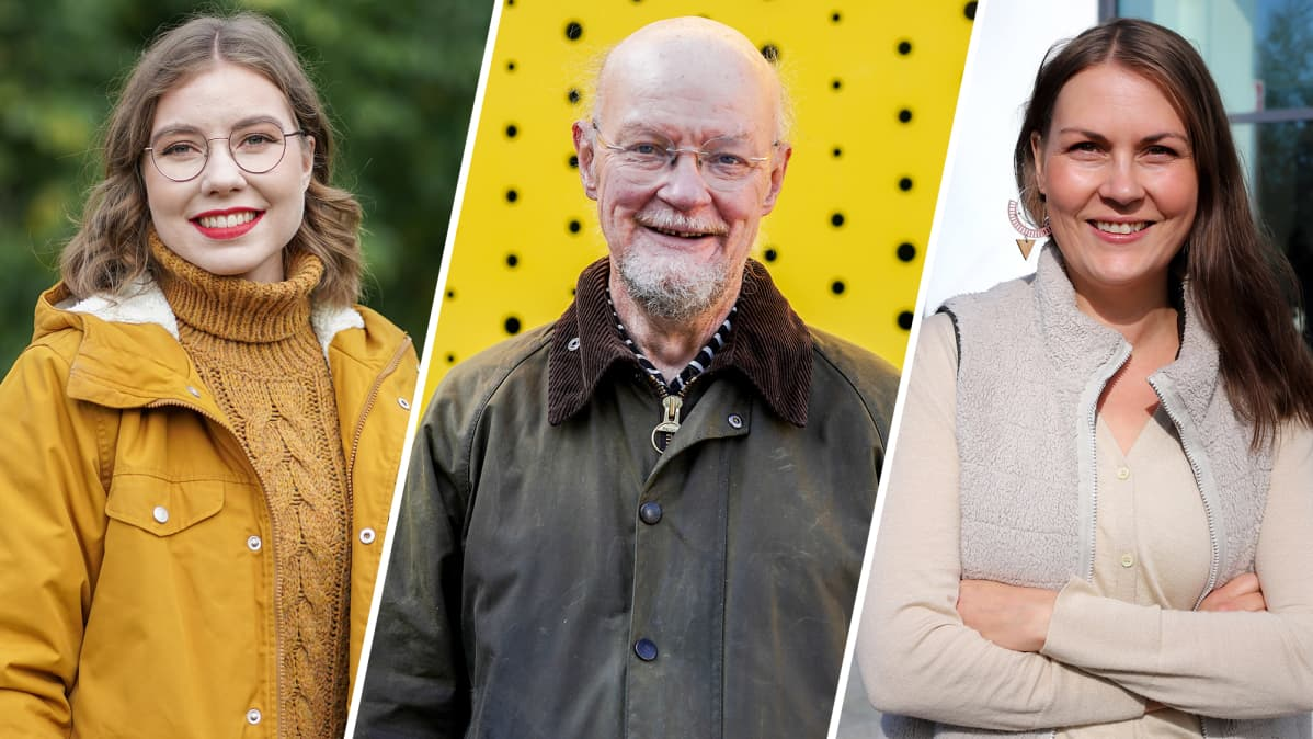 Riikka Karppinen, Osmo Soininvaara ja Kaisa Spies.
