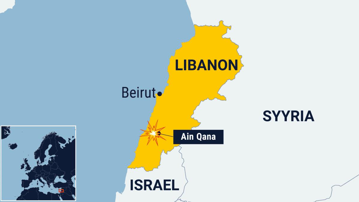 Kartta Libanonista