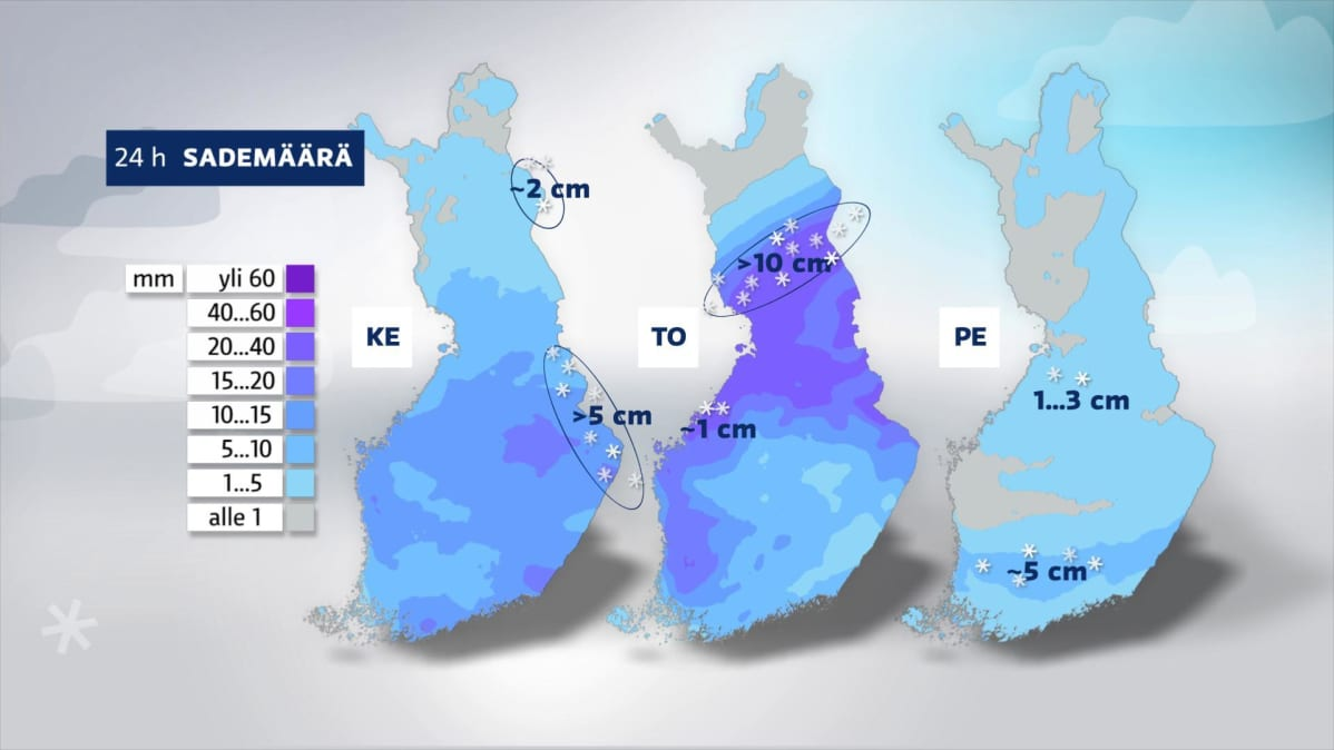Sademäärä 18.11.2020-20.11.2020