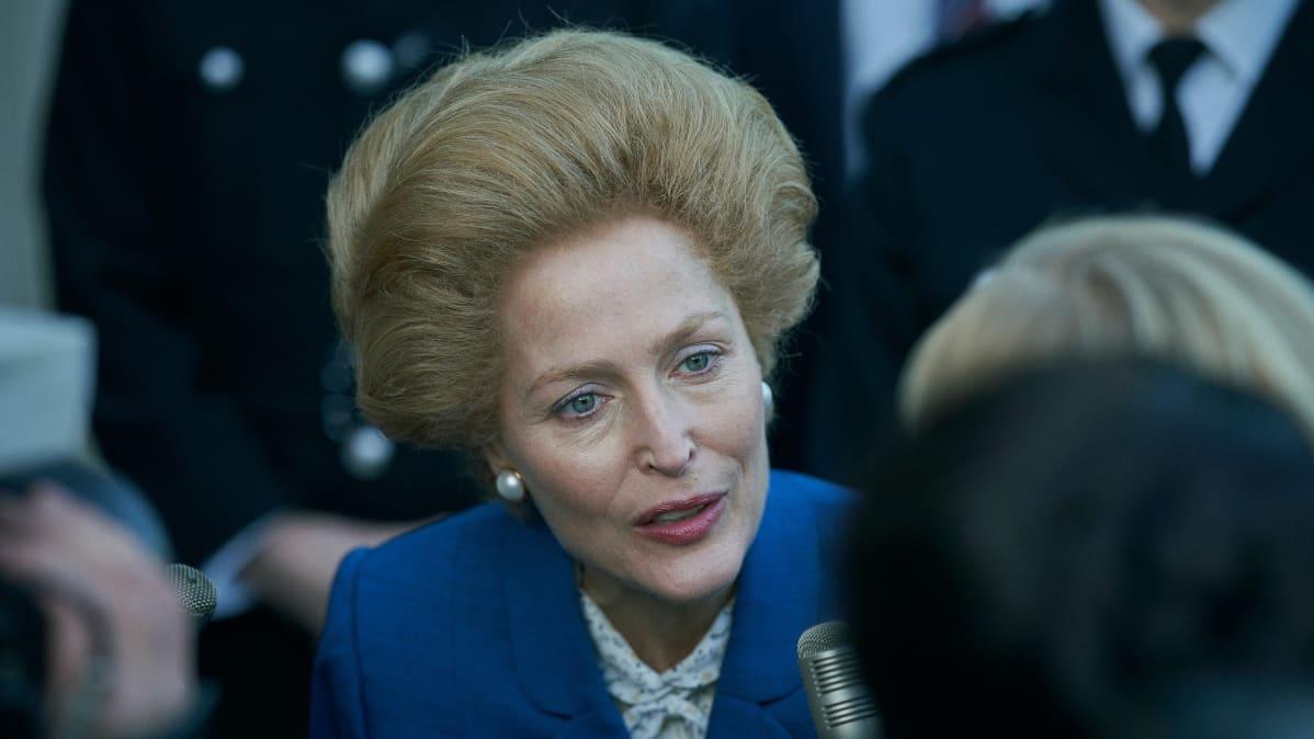 Gillian Anderson Margaret Thatcherin roolissa.