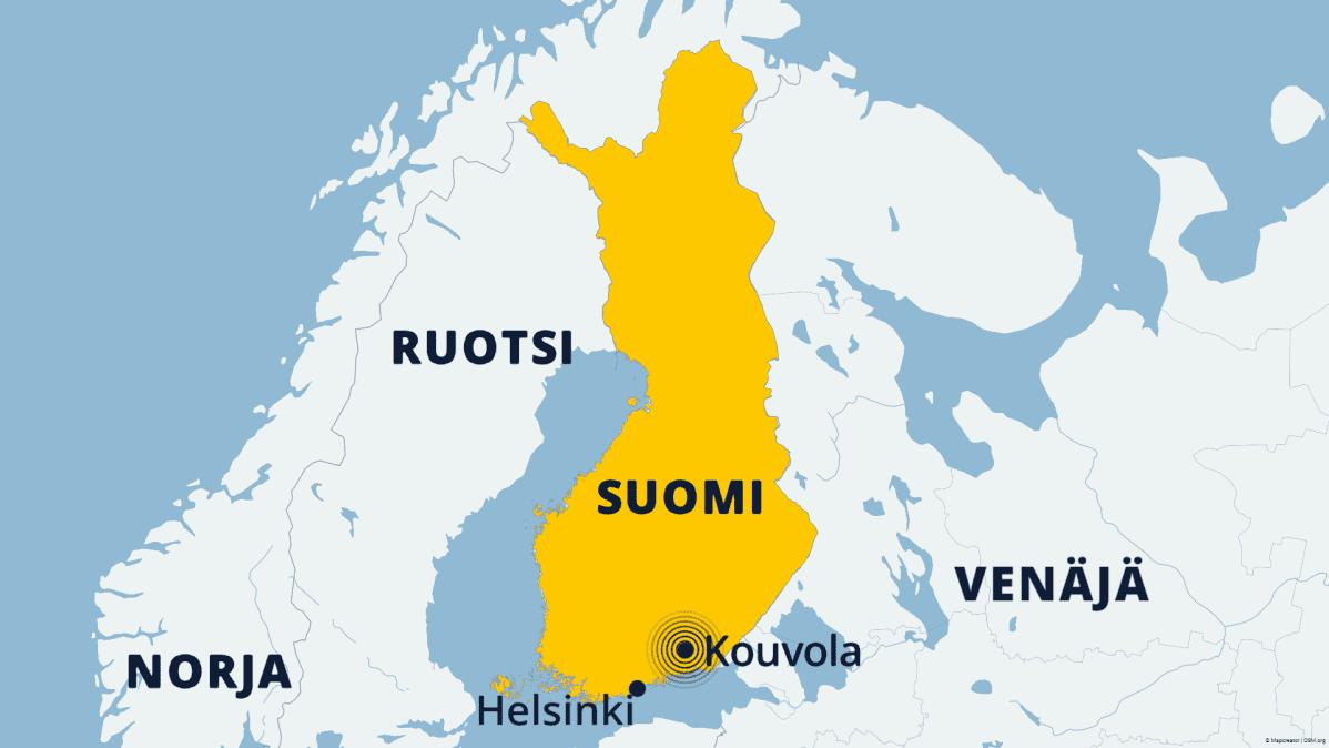 Kartta Kouvolan maanjäristys.