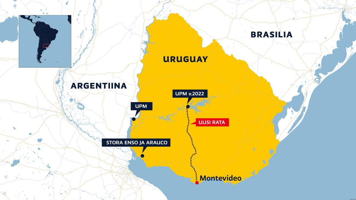 Uruguayn kartta.