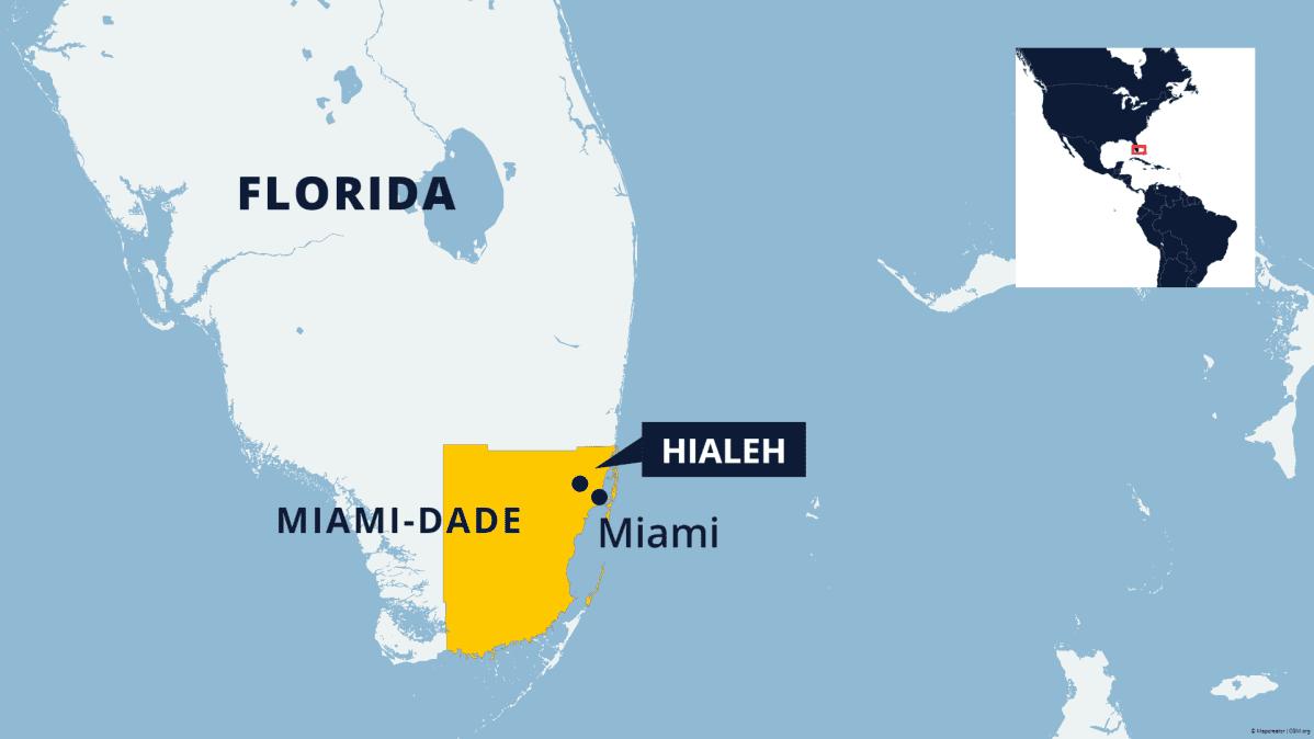 Kartta Floridasta.