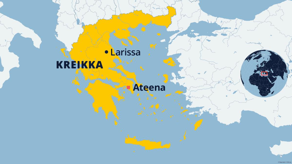 Maanjäristys Kreikassa lähellä Larissan kaupunkia.