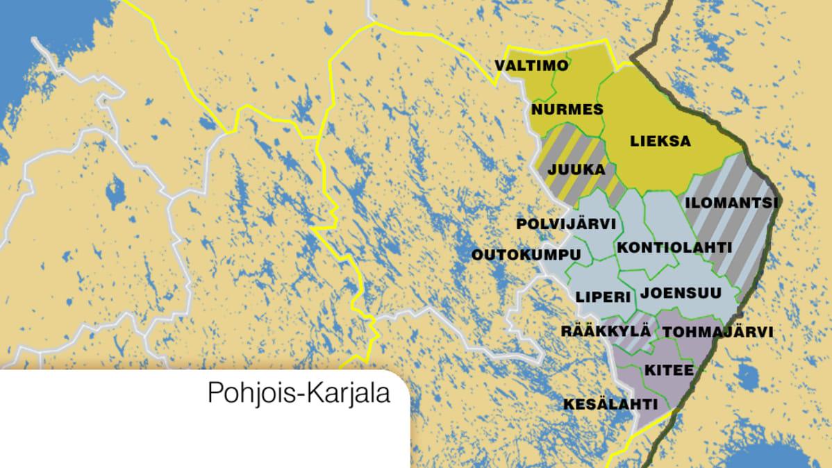 Sk Pohjois Karjalaan Jaisi Korkeintaan Nelja Kuntaa Ministerio