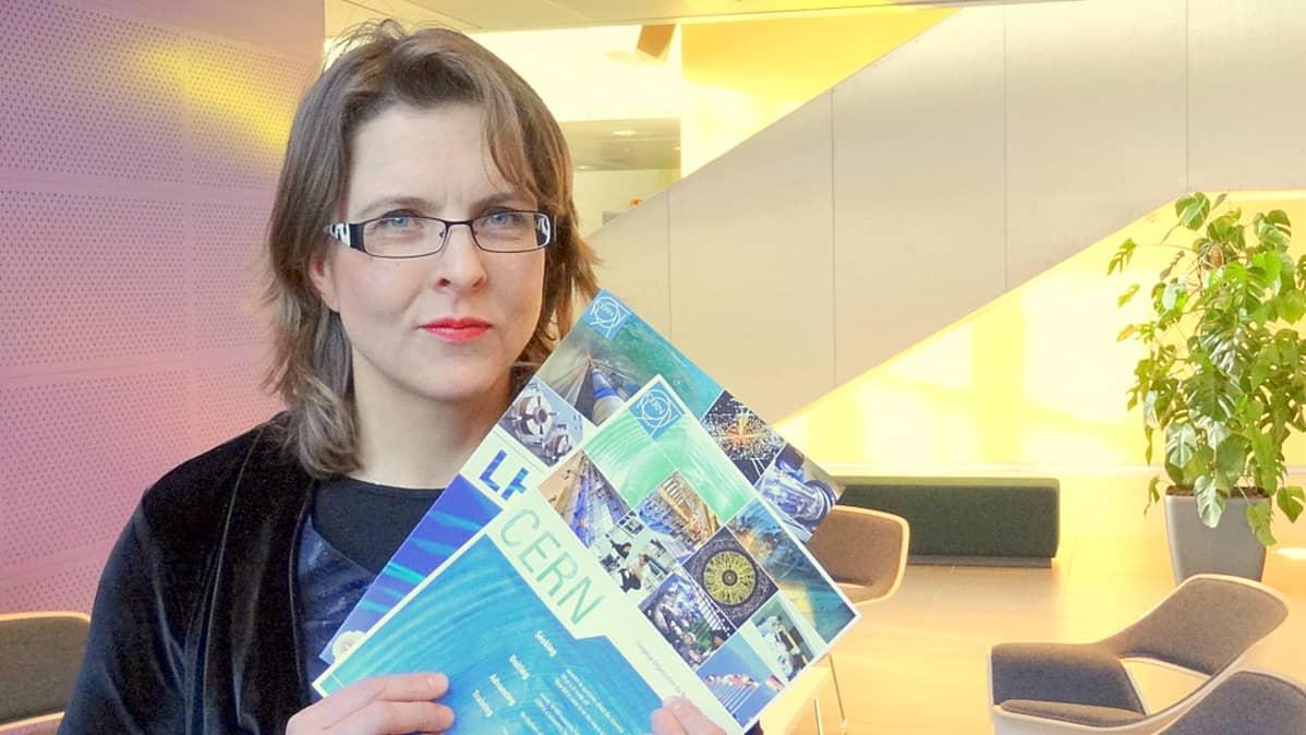CERN:n rekrytoija Tiina Wickström oli tyytyväinen Turun tilaisuuteen.