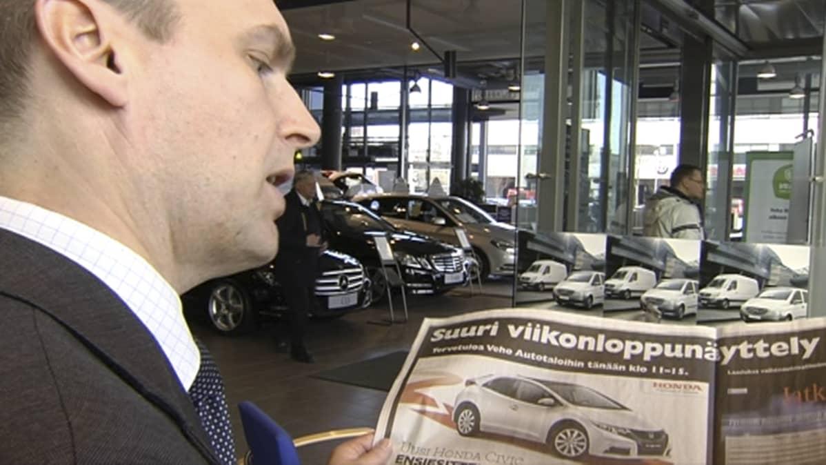 Veho Autotalon toimitusjohtaja Timo Seppä