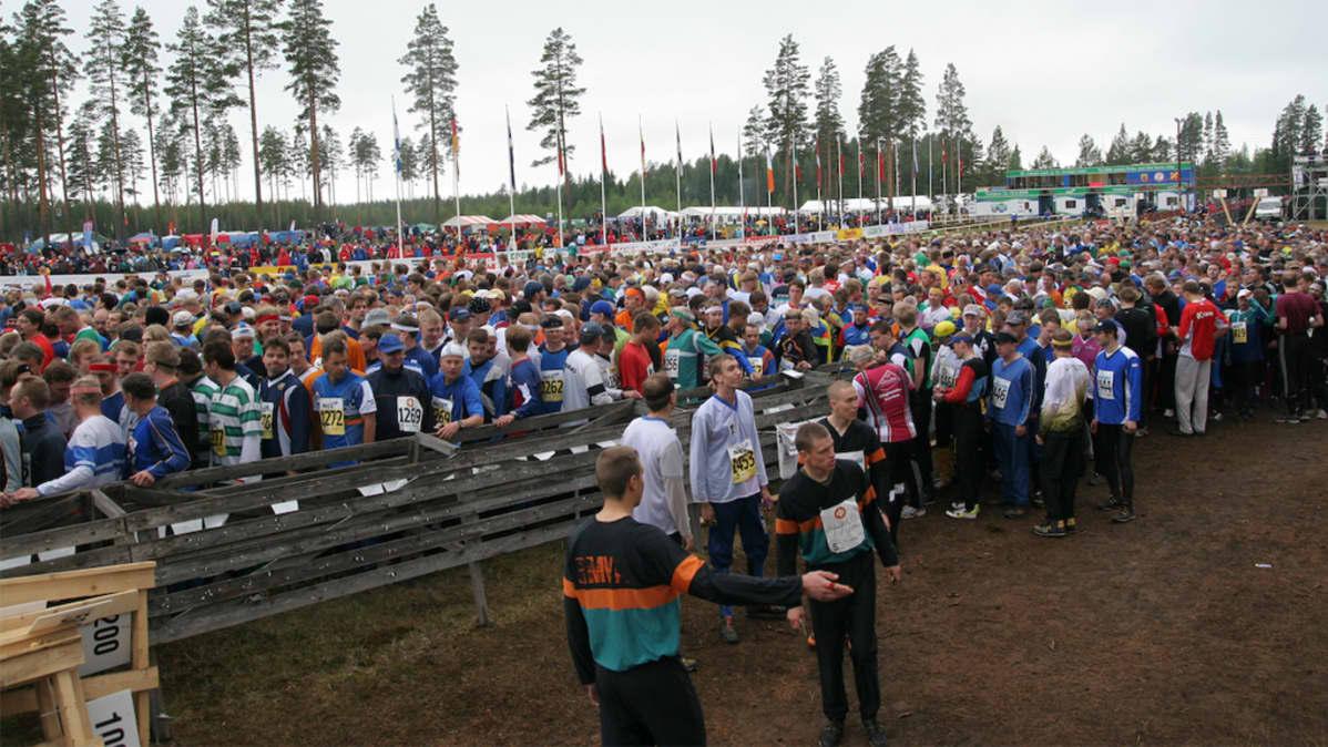 Jukolan viestin lähtö Tampereella 2008.