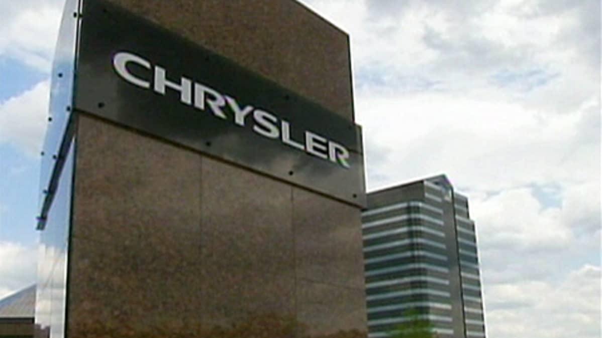 Chrysler-yhtiön päämaja Detroitissa, Yhdysvalloissa.