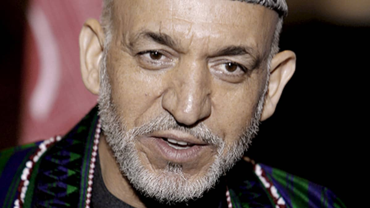 Afganistanin presidentti Hamid Karzai.