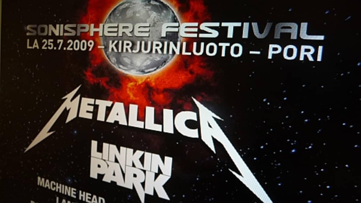 Sonisphere Festivalin nettisivu.