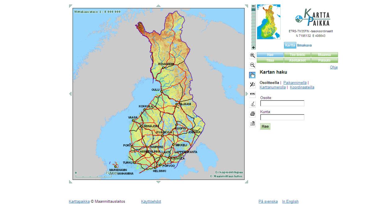 Maanmittauslaitokselta Ilmaisia Verkkokarttoja Yle Uutiset Yle Fi