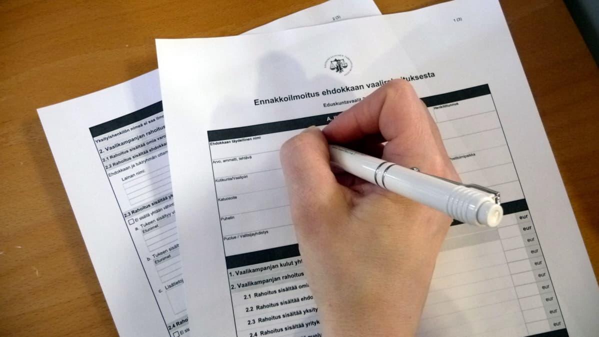 Vaalirahailmoituspohja