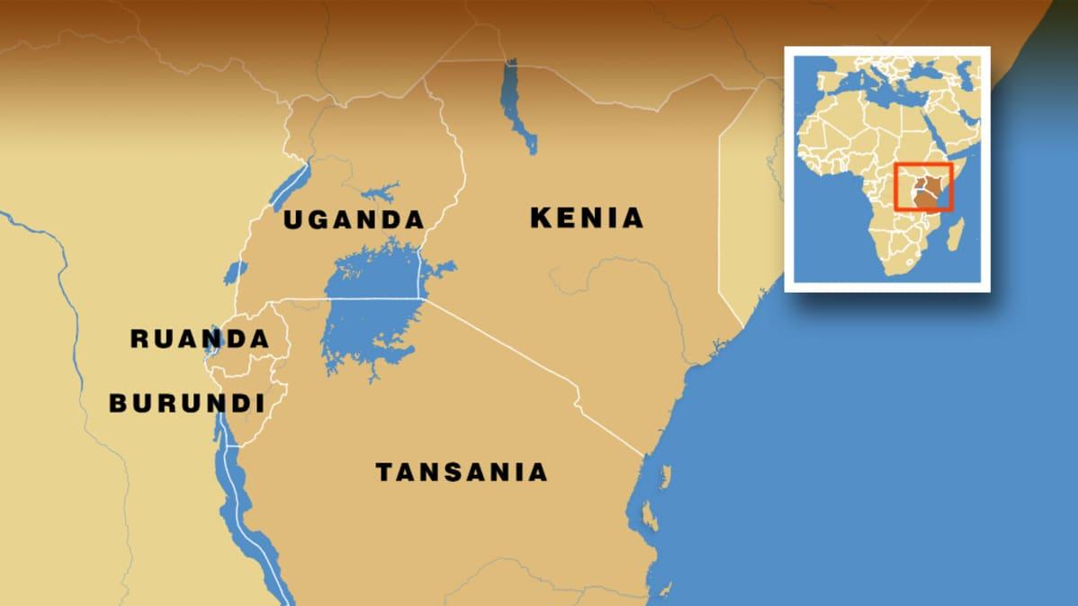 Uganda Kenia Tansania Ruanda Ja Burundi Matkalla Kohti