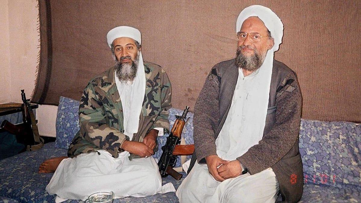 Osama bin Laden ja hänen kakkosmiehensä Ayman al-Zawahri.