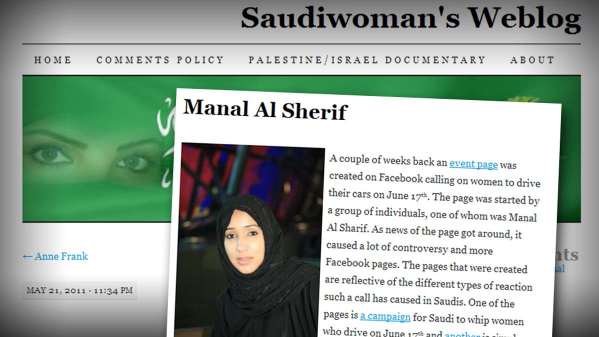 Manal al-Sherifiä puolustava nettiblogi.