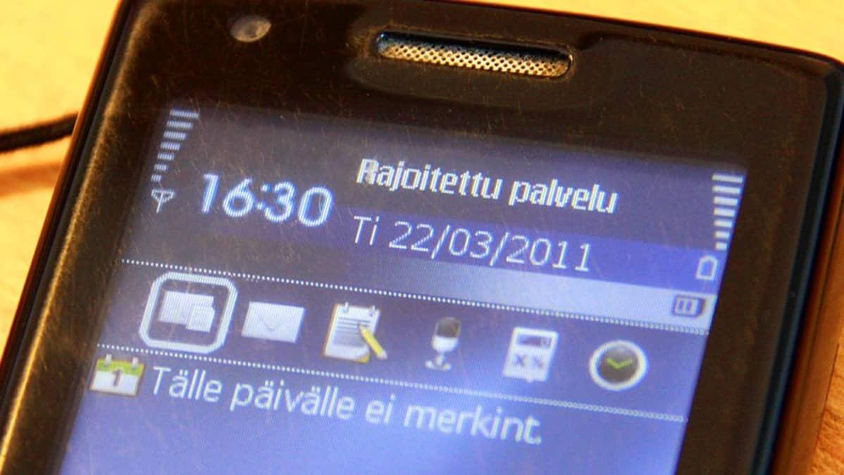 Verkko-ongelmia kännykässä