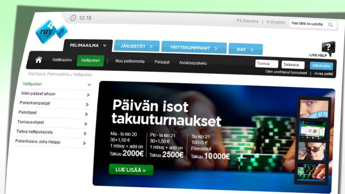 RAY:n Pelimaailma -nettisivusto.