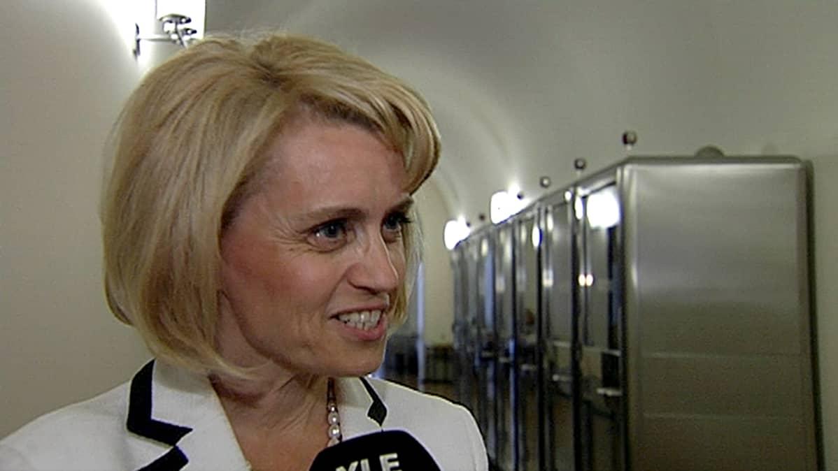 Päivi Räsänen Ylen haastattelussa 20. kesäkuuta.