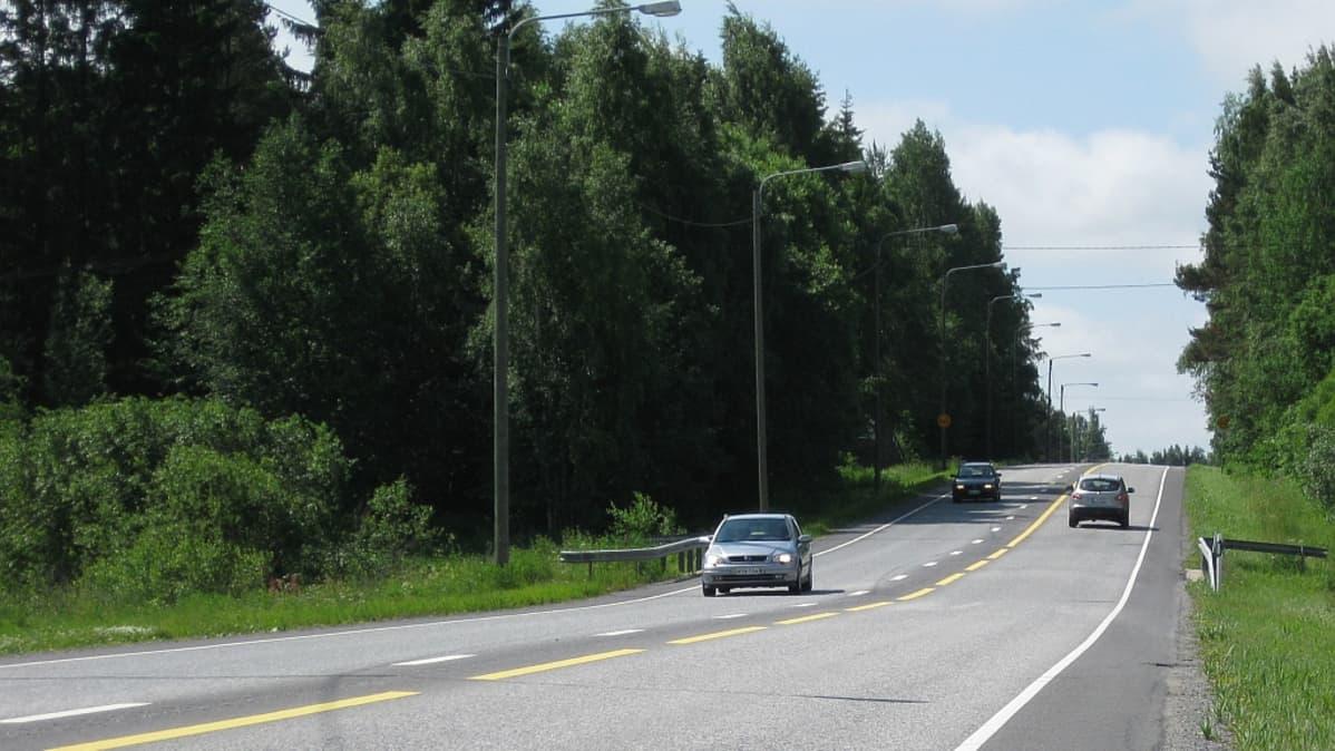 Leveän keskialueen kokeilukohde valtatiellä 23 välillä Söörmarkku-Noormarkku
