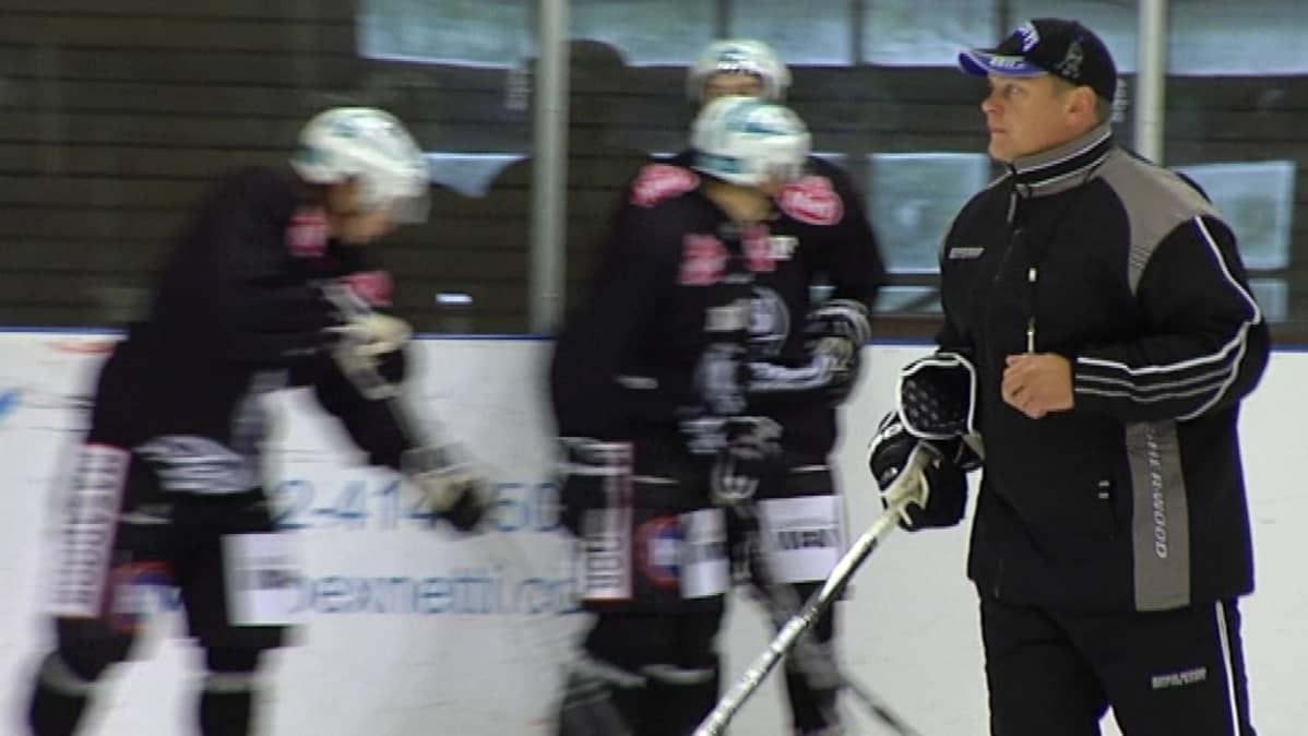 TPS:n päävalmentaja Pekka Virta.