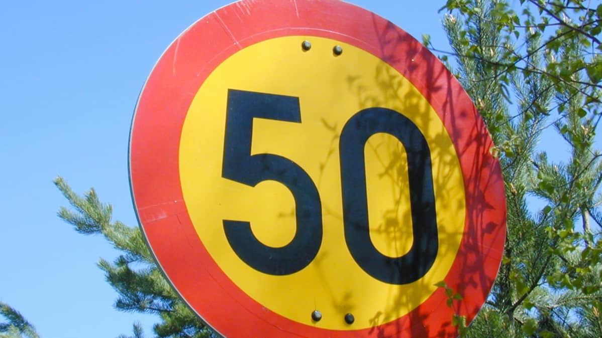 50 nopeusrajoitus