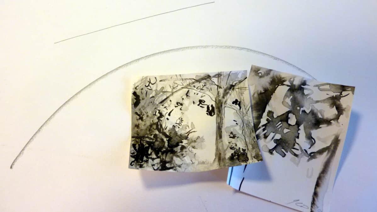 Viivoja paperilla
