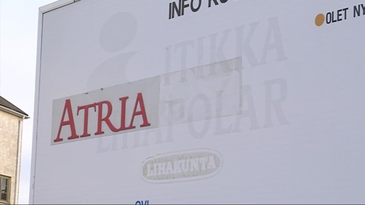 Atrian opastetaulu Kuopion tehtaalla.
