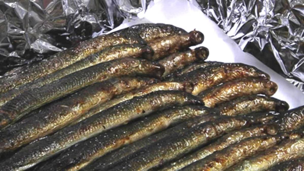 Paistetut nahkiaiset nautitaan lämpimänä suoraan uunista tai myöhemmin jäähdytettynä jääkaapista.