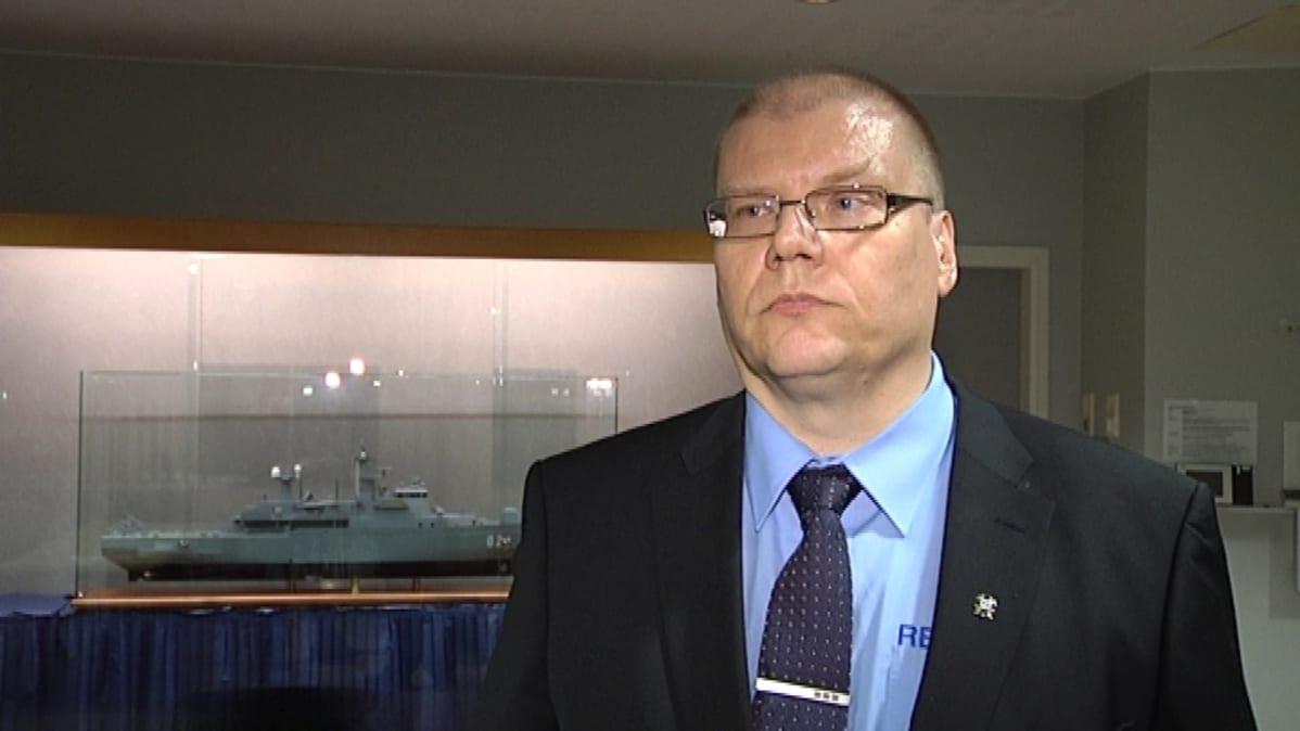 Reserviläisliiton toiminnanjohtaja Olli Nyberg.