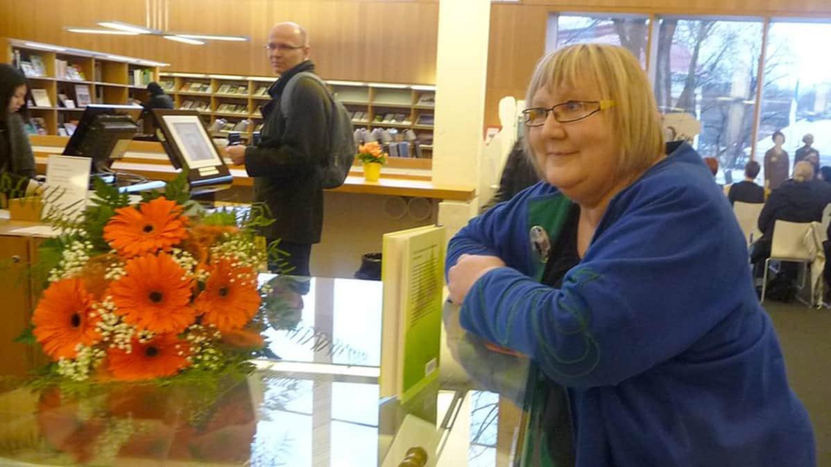 Kirjailija Anneli Kanto.